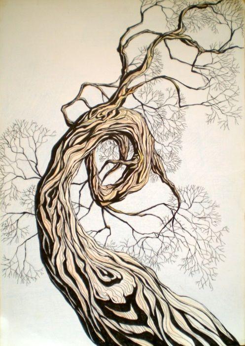 креативные деревья рисунок - Поиск в Google