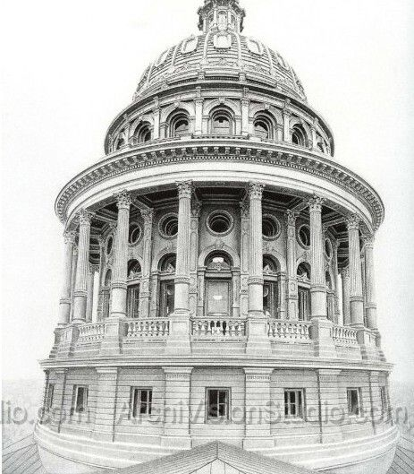 25 best ideas about pencil sketches architecture on for Building drawing online