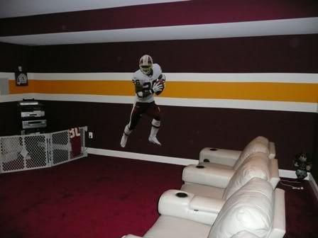 TLCs Redskin Room Football Man CaveFootball RoomsRedskins FootballBasement BarsBasement IdeasGarage