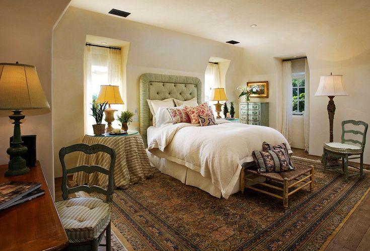 французская деревенская деревенская спальня средиземноморская с одеялом king size bedskirts