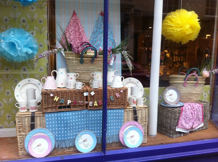 My easter window display showing products from china and ...