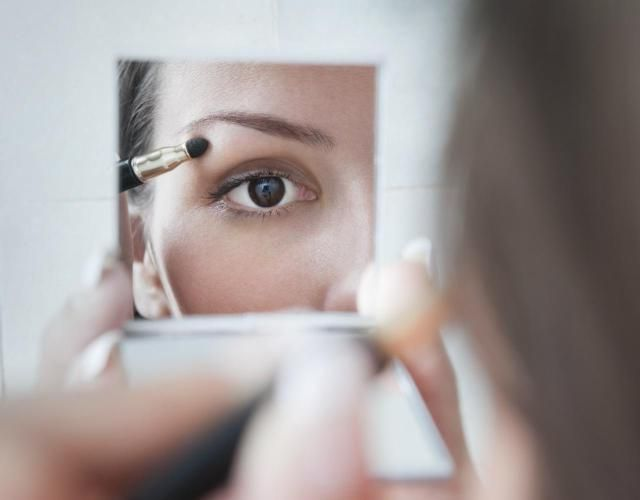 My best makeup artist secrets to eye makeup including a bit of white eyeshadow in the corner of the eye to make your eyes pop.
