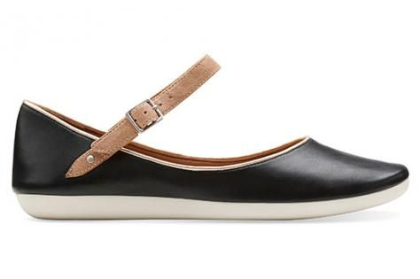 Clarks Feature Film mary janes in black