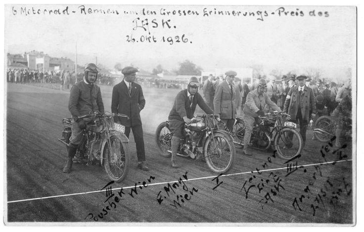 1926 Motorcycle Race - Alpine Trial - Motorrad Remien unden Grossen Erinnerungs - Pries des Lask