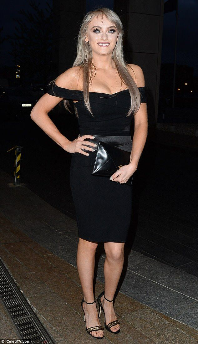Two stone weight loss: Coronation Street star Katie McGlynn, 33, showed off her newly-slender figure as she headed out on a girls' night in Liverpool with pals on Friday