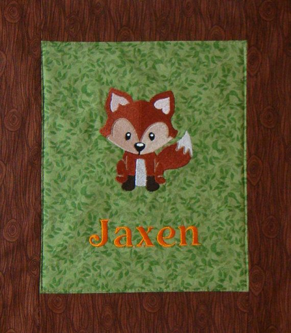 Embroidered Woodland Animals Baby Quilt Blanket Choose