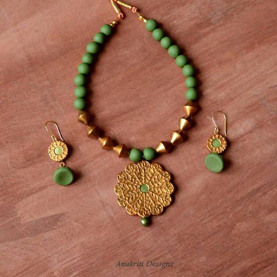 Ethnic jewelry Terracotta jewelry Indian wedding jewelry