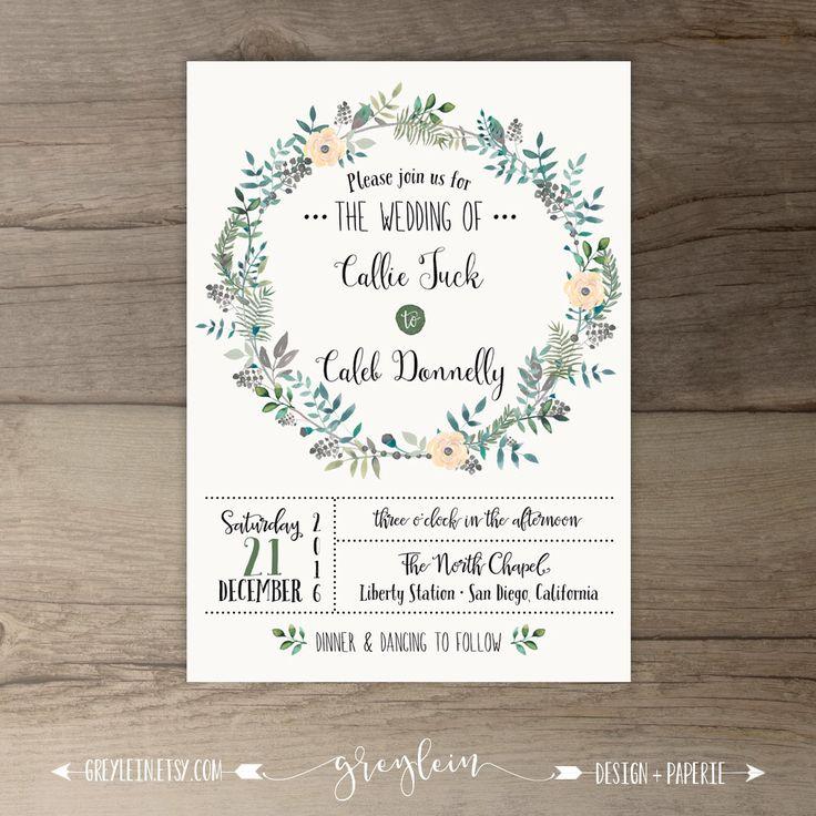 Woodsy Wedding Invitations u2022 Spring wedding u2022