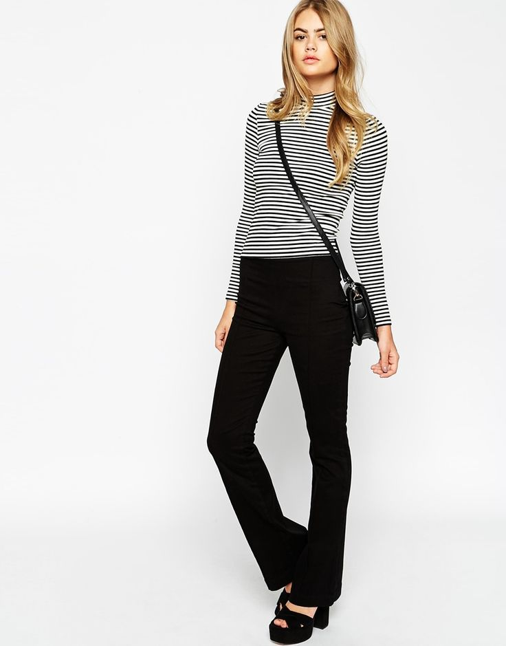 ASOS+High+Waisted+Structured+Flare+Trousers