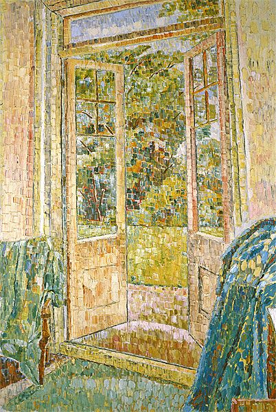 Open Door, Grace Cossington Smith This picture used drawn with oil pastels is by a lady named grace cossington smith and this relates to openings because of the door and I really like the colours used
