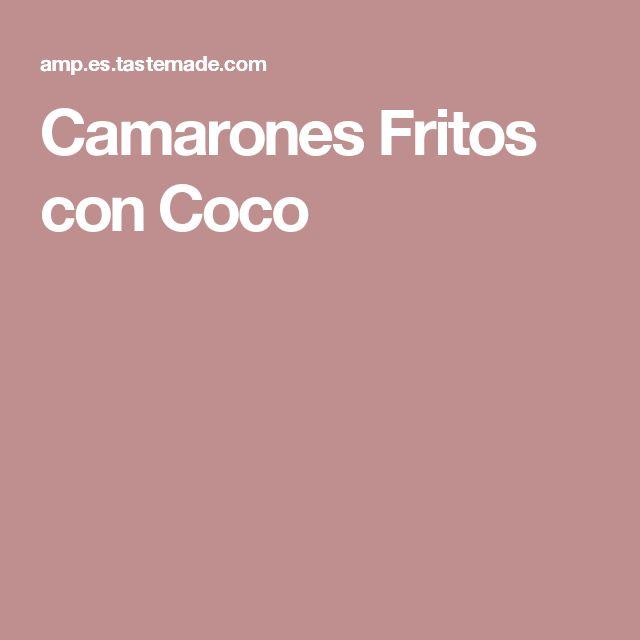 Camarones Fritos con Coco