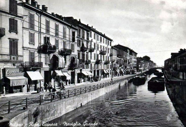 Milano anni 50 - Naviglio Grande