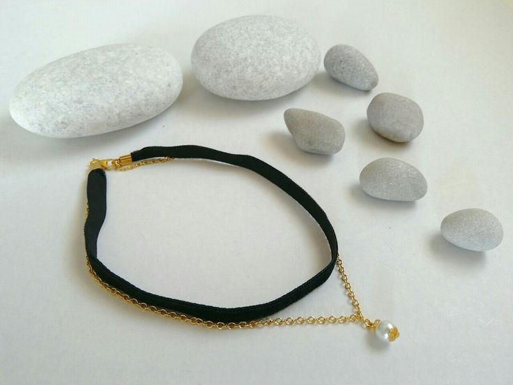 Black velvet choker necklace. https://el-gr.facebook.com/ElitasBijoux