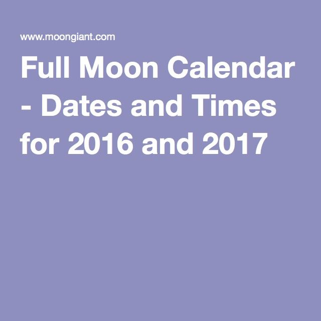 New Moon Dates From 2014- 2021