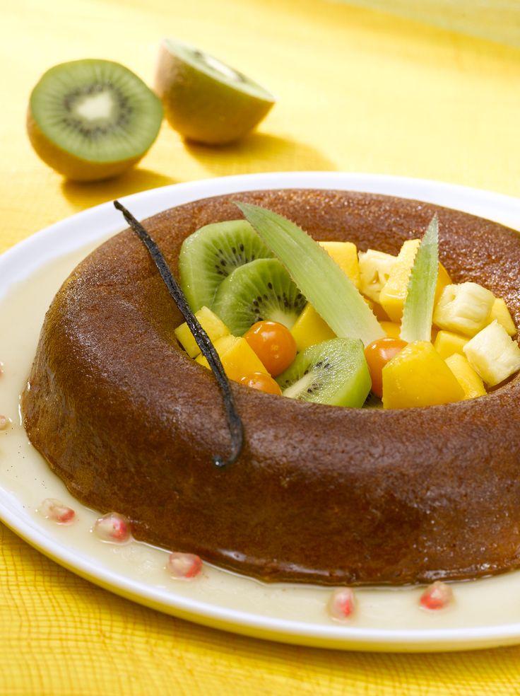 Numéro 62 : Baba aux fruits exotiques et sirop de cassonade à la vanille ©L'atelier des chefs