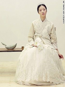 Pretty bridal hanbok
