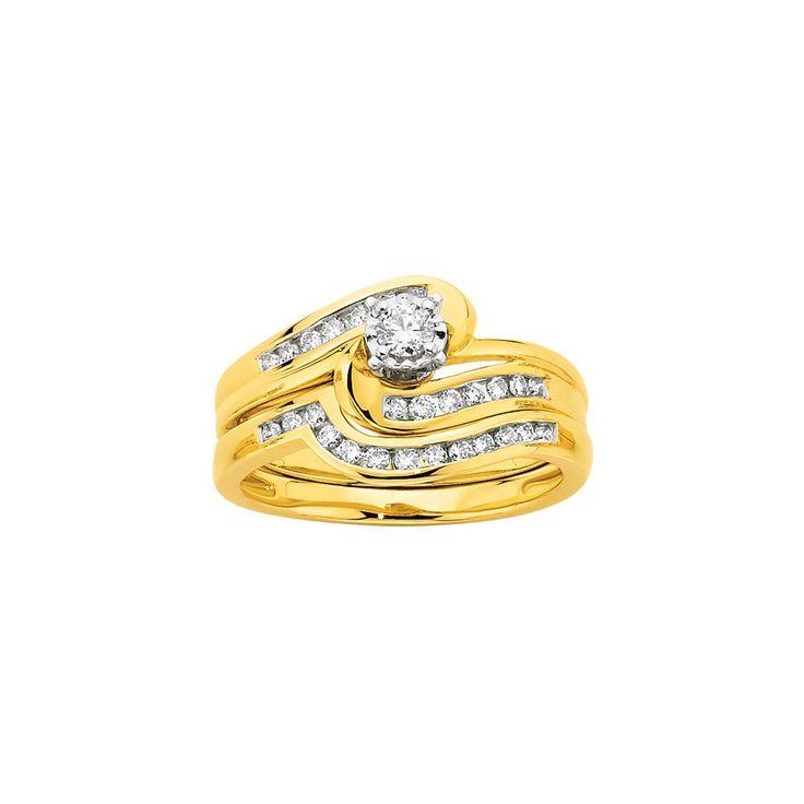 9ct Diamond Bridal Set
