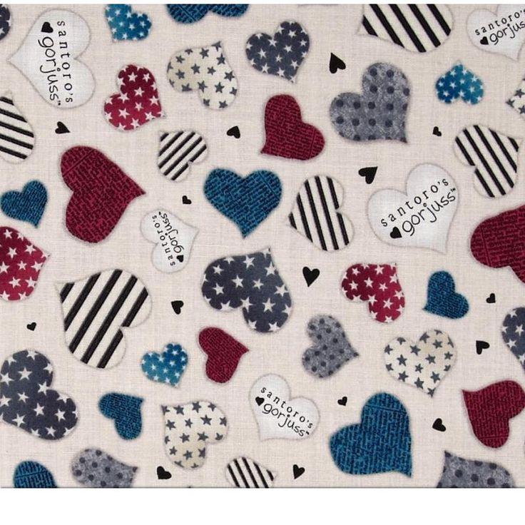Por fín ya disponibles las telas de Gorjuss! Original estampado de corazones con los colores y diseños especiales de la famosa muñeca Gorjuss!!