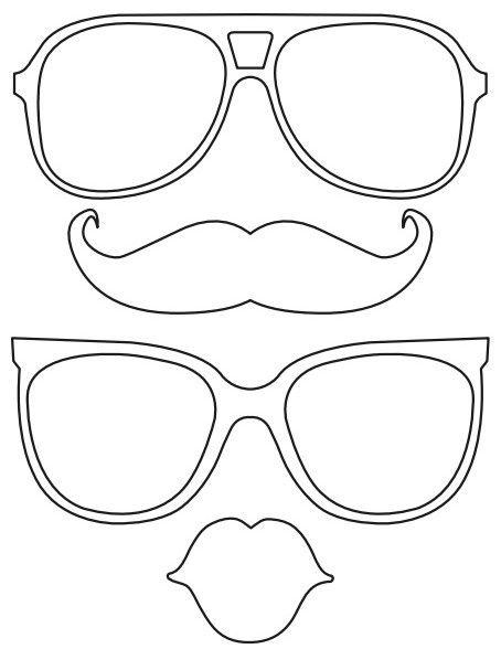 printable lips mustache glasses free diy printabl file photo booth props photobooth. Black Bedroom Furniture Sets. Home Design Ideas