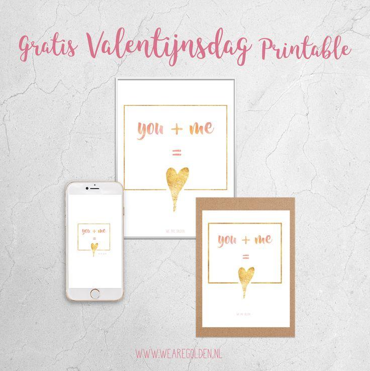 Free Valentine Printable - Gratis Valentijnsdag Printable - www.wearegolden.nl