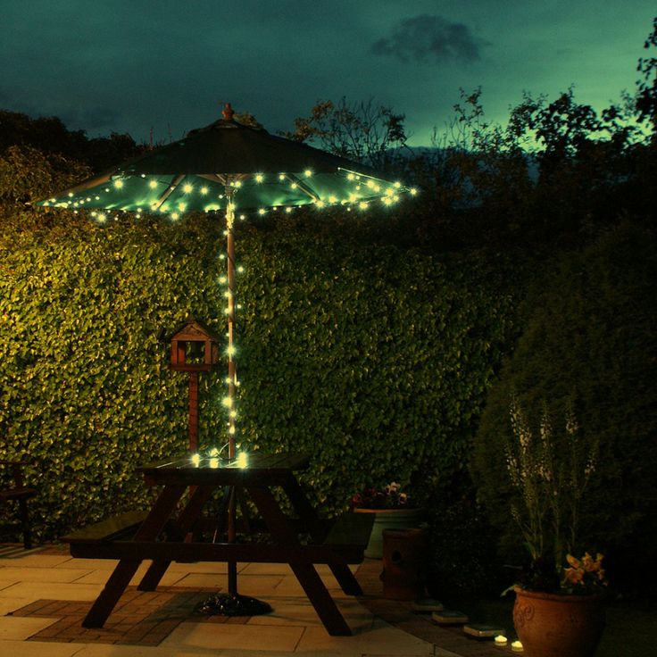EiioX 100 LED white Solar Fairy String Lights for outdoor, gardens, homes,  Christmas party - This solar LED lights