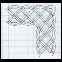 Great tutorial on drawing celtic knot borders.  Celtic Knots 101 - Running Borders - WetCanvas