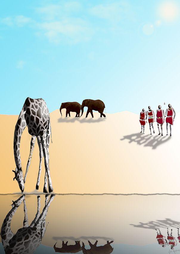 Surrealism-The masai's ways