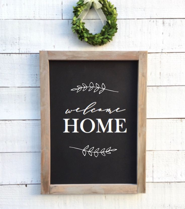 Home Decor Chalkboard: Welcome Home, Framed Chalkboard Sign