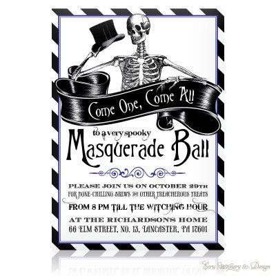 ECRU Halloween Invitation Masquerade Ball