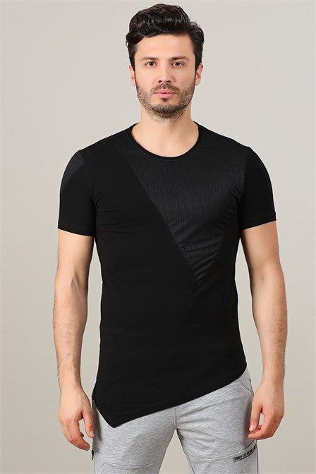 Tommy Life File Detaylı Siyah Erkek Tshirt