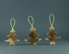 wood ornaments - Christmas tree by morgod