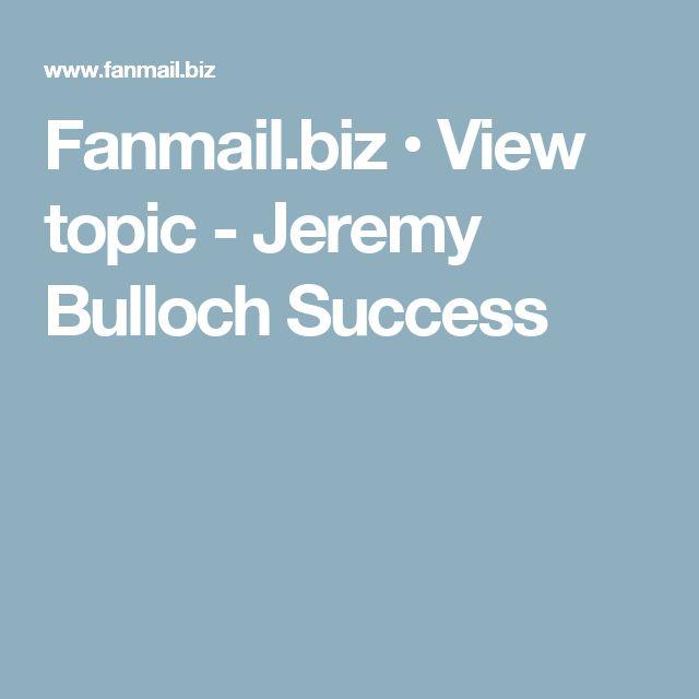 Fanmail.biz • View topic - Jeremy Bulloch Success