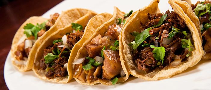 Tacos of Barbacoa, Cilantro and onions.YUM!