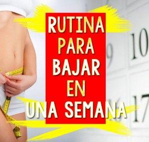 Rutina de ejercicios para bajar de peso rápido en una semana http://adelgazarsincomplicaciones.com/blog/rutina-de-ejercicios-para-bajar-de-peso-rapido-en-una-semana/