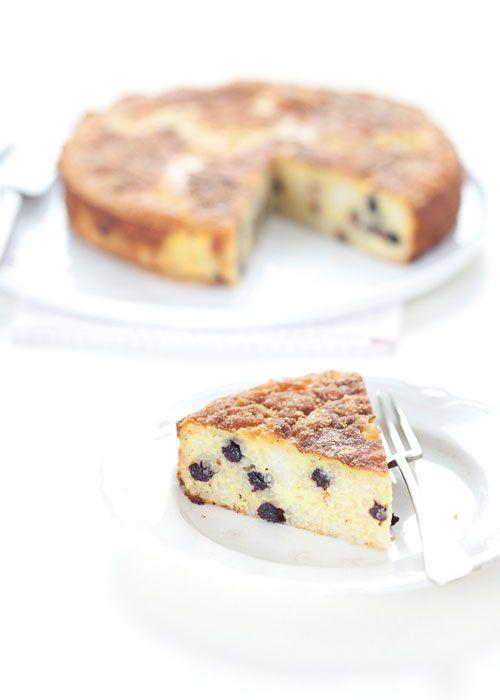 Torta di riso con mirtilli e limone | italian rice cake with lemon and dried blueberries