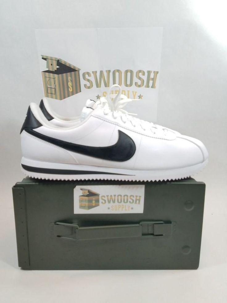 NIKE CORTEZ BASIC LEATHER Size 13 MENS RUNNING SHOES WHITE 819719 100 #Nike #RunningCrossTraining
