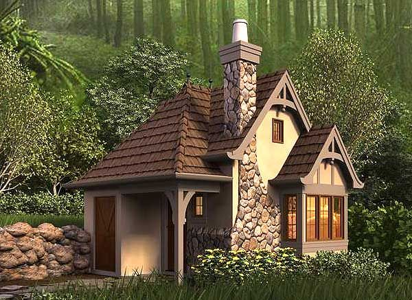 Plan 69531am whimsical cottage house plan master suite cabin and house - Small houses plans cottage decor ...