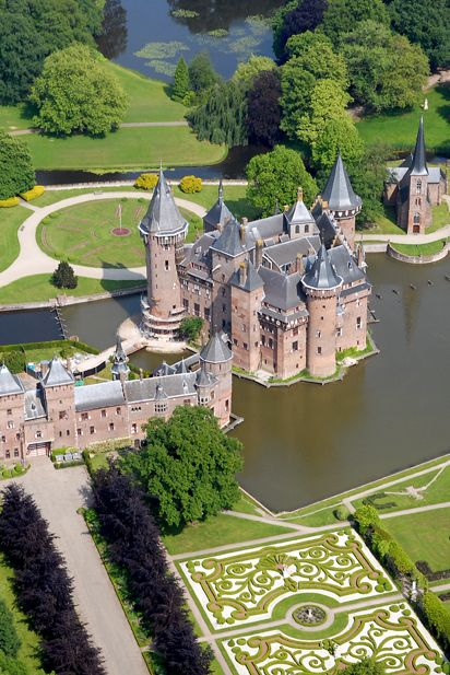 Dutch castle, Utrecht, The Netherlands