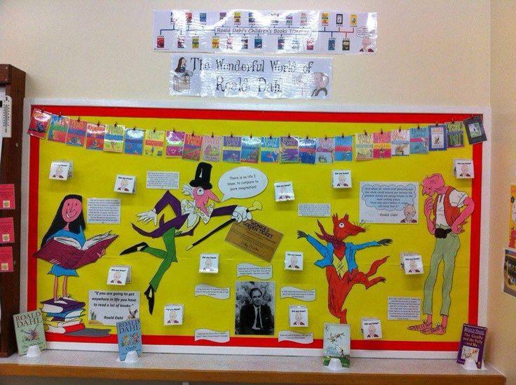 Roald Dahl display …