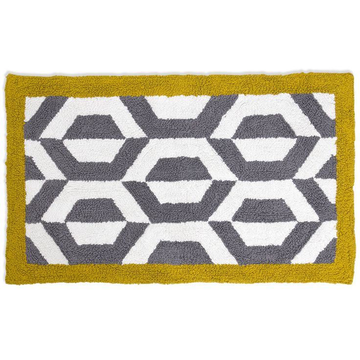 Gio Ponti Grey U0026 Yellow Bath Rug From Jonathan Adler