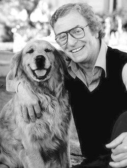 Michael Caine with his pup