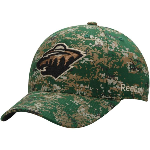 Minnesota Wild Reebok Structured Flex Hat - Digital Camo - $25.99