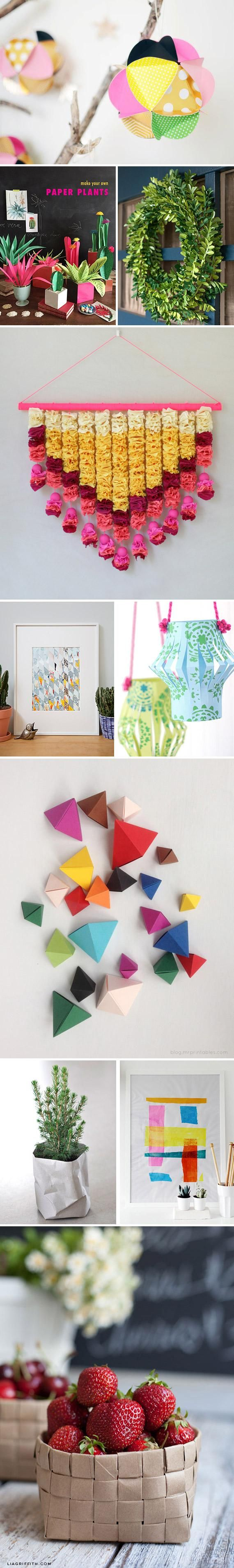 It's truly amazing what you can do with a little bit of paper and some time. Get inspired by our roundup of cut-and-fold crafts — and join a paper-themed Etsy Craft Party near you this weekend, June 5-6, 2015!: