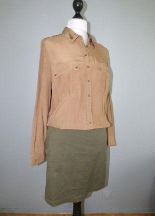 À vendre sur #vintedfrance ! http://www.vinted.fr/mode-femmes/robes-casual/37955600-robe-esprit-officier-militaire-2-en-1-ikks