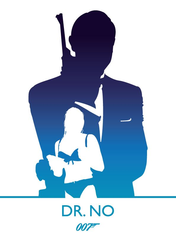 Dr. No, James Bond by Phil Beverley, via Behance