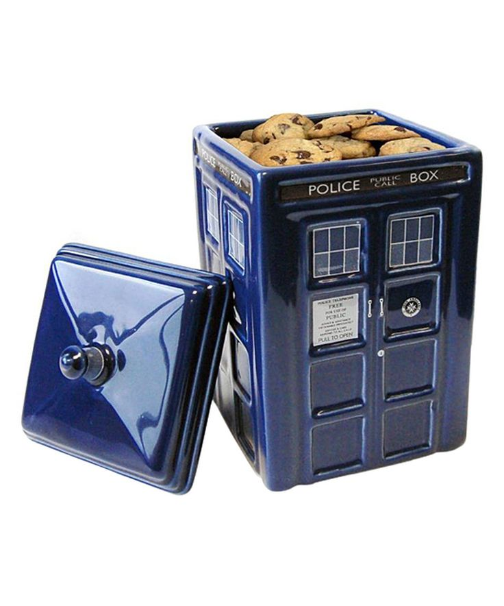 Look at this #zulilyfind! Doctor Who TARDIS Ceramic Cookie Jar by Doctor Who #zulilyfinds
