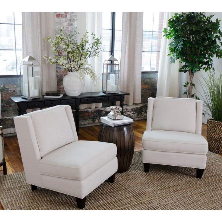Have to have it. Elements Fine Home Malibu Fabric Armless Chair Set - $979.99 @hayneedle
