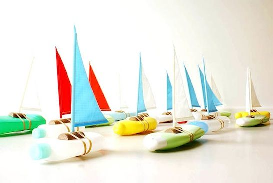 Boats From Recycled Soft Plastic Bottles Rubber Bands