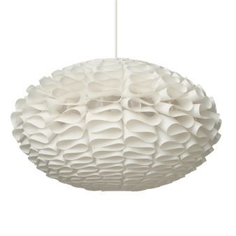 Norm 03 modern lamp shade is designed with organic and simple principles in mind. When lit, Norm 03 gives a nice sculptural light effect on the wall.