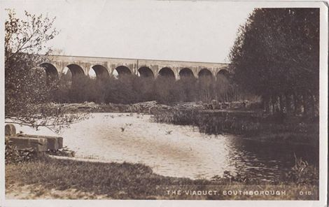 A Postcard Of Brokes Mill Pond And The Colebrook Viaduct